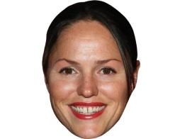 A Cardboard Celebrity Mask of Jorja Fox