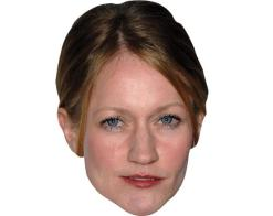 A Cardboard Celebrity Mask of Paula Malcomson