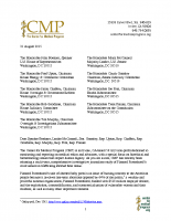 CMP Letter to Congress
