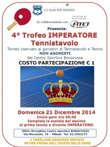 torneo IMPERATORE dicembre 2014