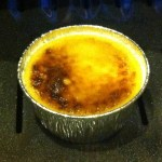 8. Immediately out of the oven you may notice some unevenness in the brulee.