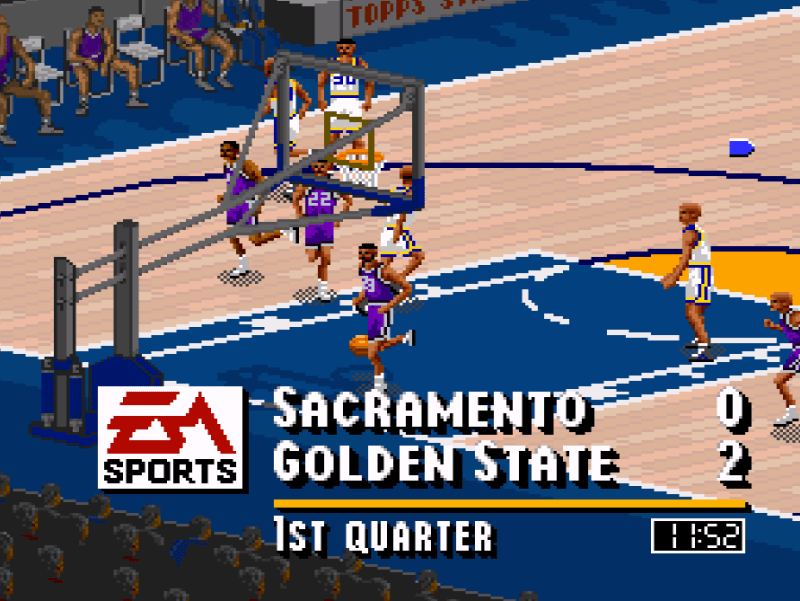 NBA Live 95 on the Super Nintendo - the greatest basketball video game ever made.
