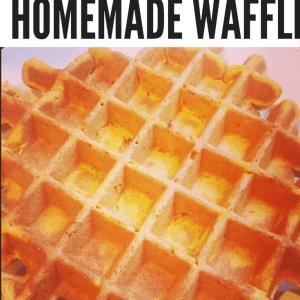 Pumpkin-Spice Homemade Waffles
