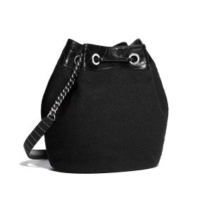 Fun Drawstring Bag Black Red Embroidered Wool Calfskin Silver Tone Metal Packshot Alternative A57540y83723c1381 8804057776158 Drawstring Bag Printing Drawstring Bags Near Me