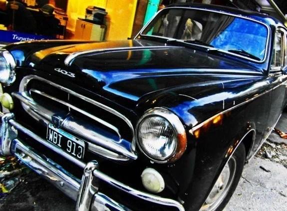 Vintage cars Buenos Aires black Peugeot