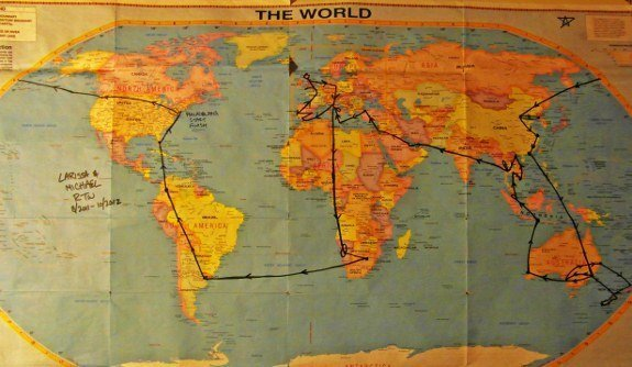 map round the world trip planning