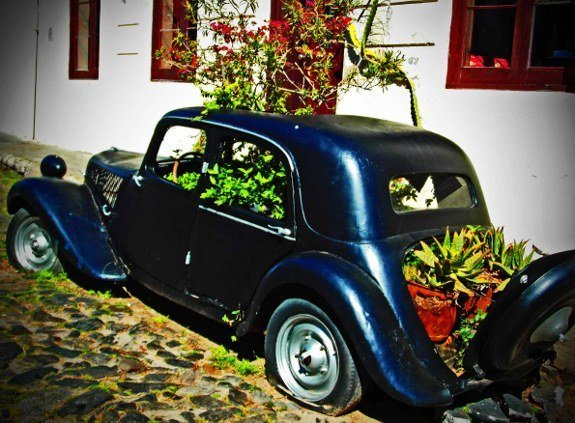 Vintage car planter