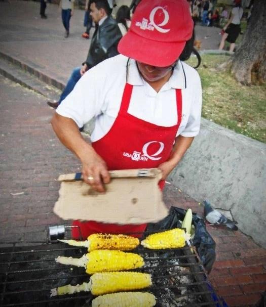 street food bogota grilled corn