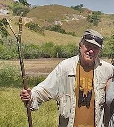 Ray Uzanas with stick