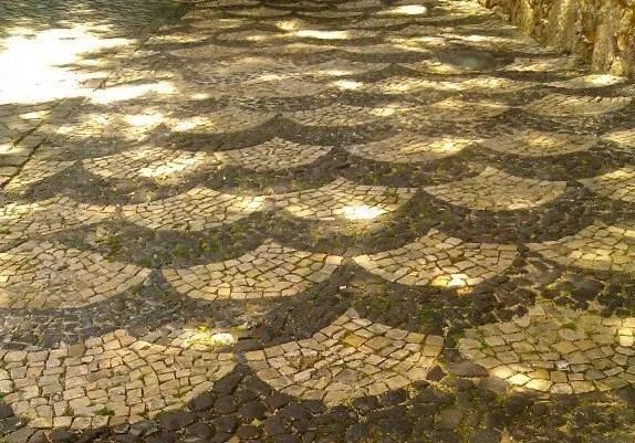 tiled sidewalks of lisbon