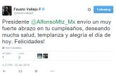 Fausto Vallejo Manda Felicitaciones A Alfonso Martínez En Su Cumpleaños