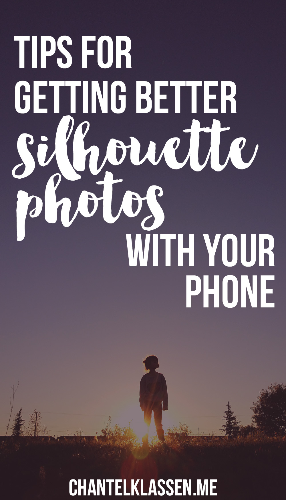 Tips for getting better silhouette photos with your phone