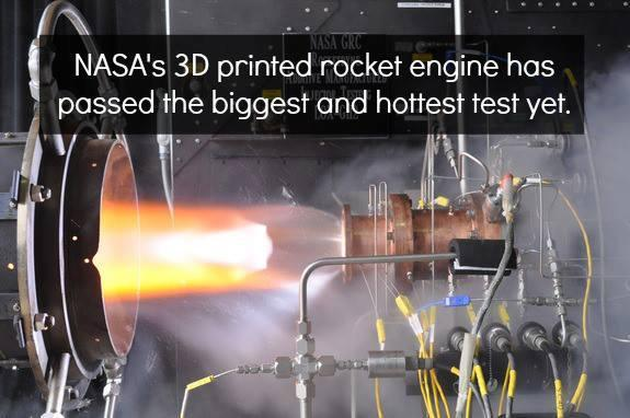 Nasa's 3D Printed Rocket Engine Has Passed The Biggest And Hottest Test Yet