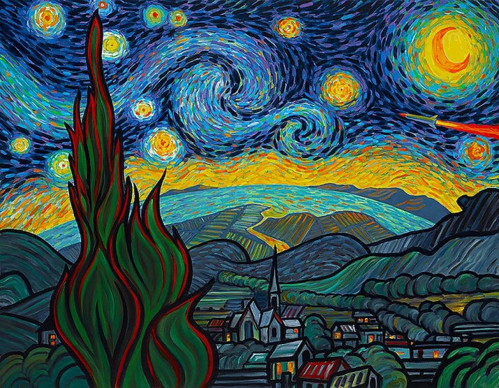 Starry Night Attack after Van Gogh