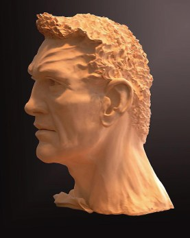 Sculpture, Gladiator, profile 2