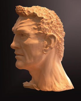 Sculpture, Gladiator, profile 2