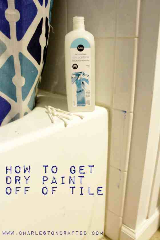 how to get paint off of tile charleston crafted