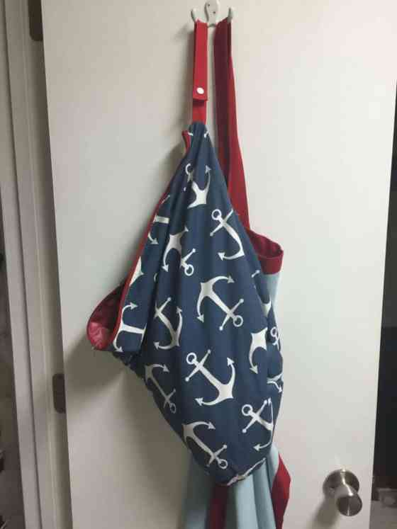 Diaper Bag as a Rag Bag in the Kitchen - Charleston Crafted