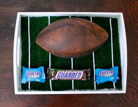 DIY Football Field Serving Tray - Charleston Crafted