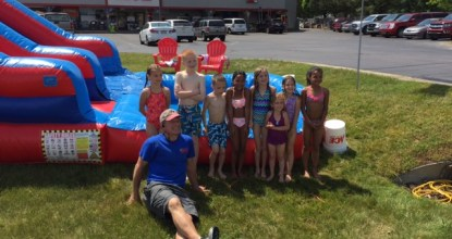 Blow up Bouncy House Water Slide, Charlevoix, Michigan, Ace Hardware