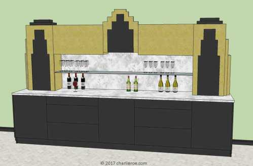 Medium Of Art Deco Bar