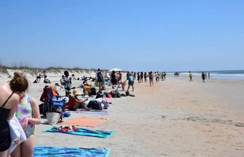 Students from Charlotte-Mecklenburg Schools enjoy sun and sand at the 2015 Beach Blast