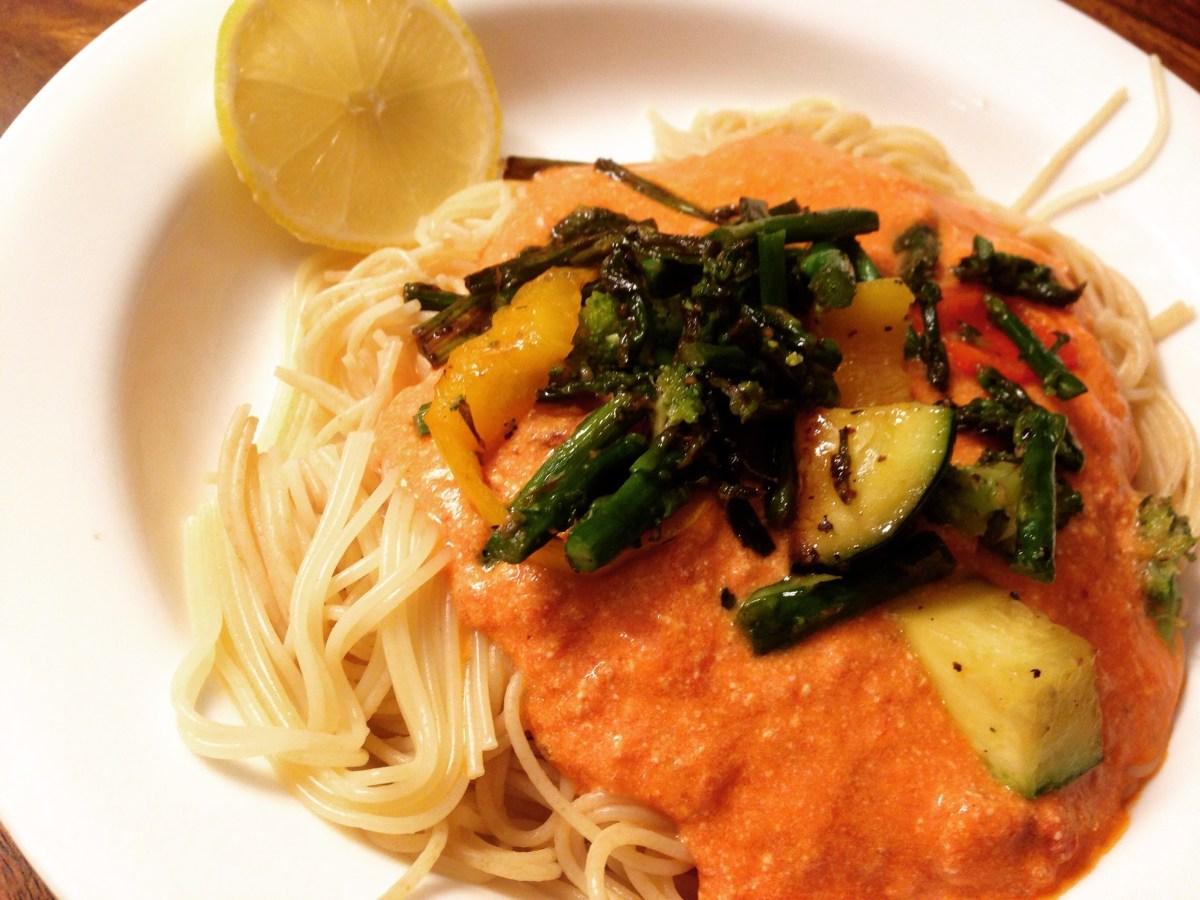 30 Minute Meal: Capellini Primavera Alla The Easiest Tastiest Pink Sauce