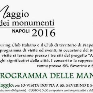 programma touring club maggio monumenti 2016