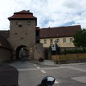 Entering Sommerach through one of the gates