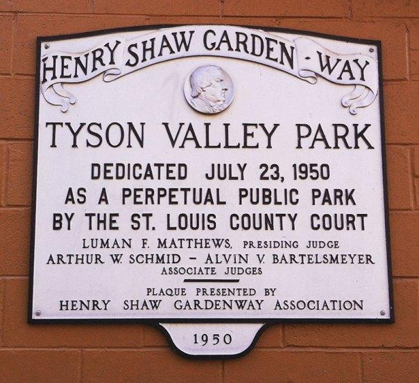 Tyson Valley Park Henry Shaw Gardenway