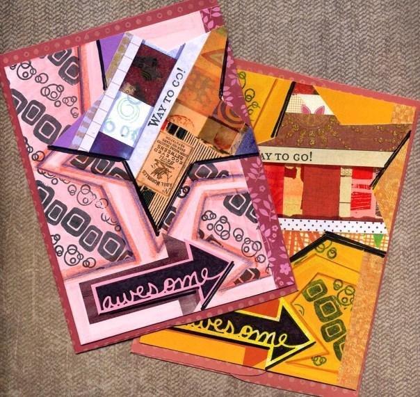 mixed media greeting cards