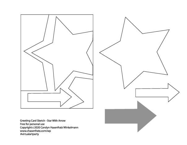 star_greeting_card_with_arrow