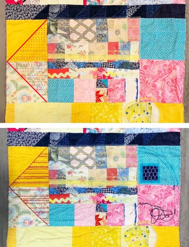 Experimental Art Quilt #2 in progress