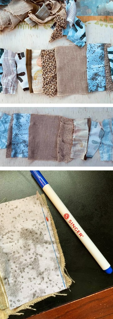 Here is how to start a scrap strip.