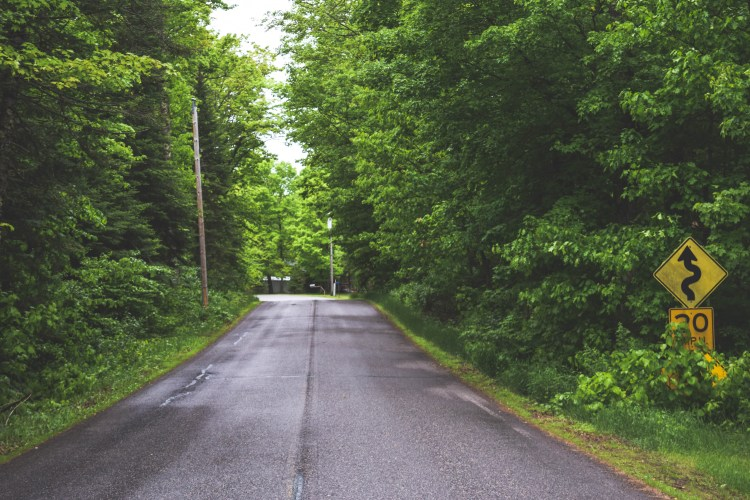 This is the road I lived on