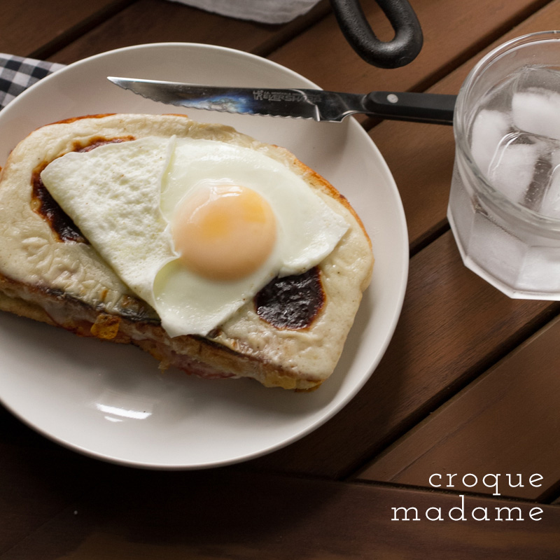 croquemadame with text
