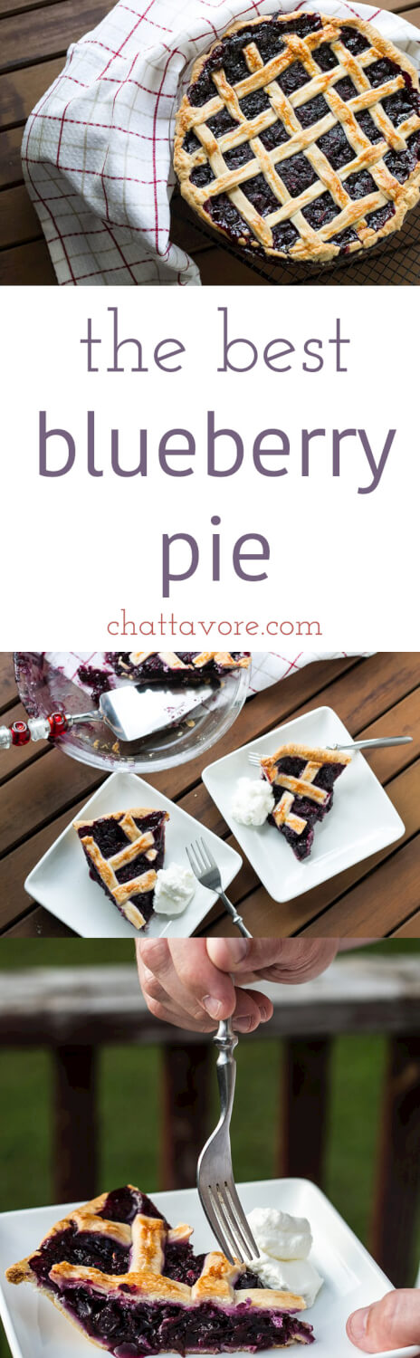 This blueberry pie, adapted from an America's Test Kitchen recipe, is the best blueberry pie that I've ever eaten. It's easy to make, too! | recipe from Chattavore.com