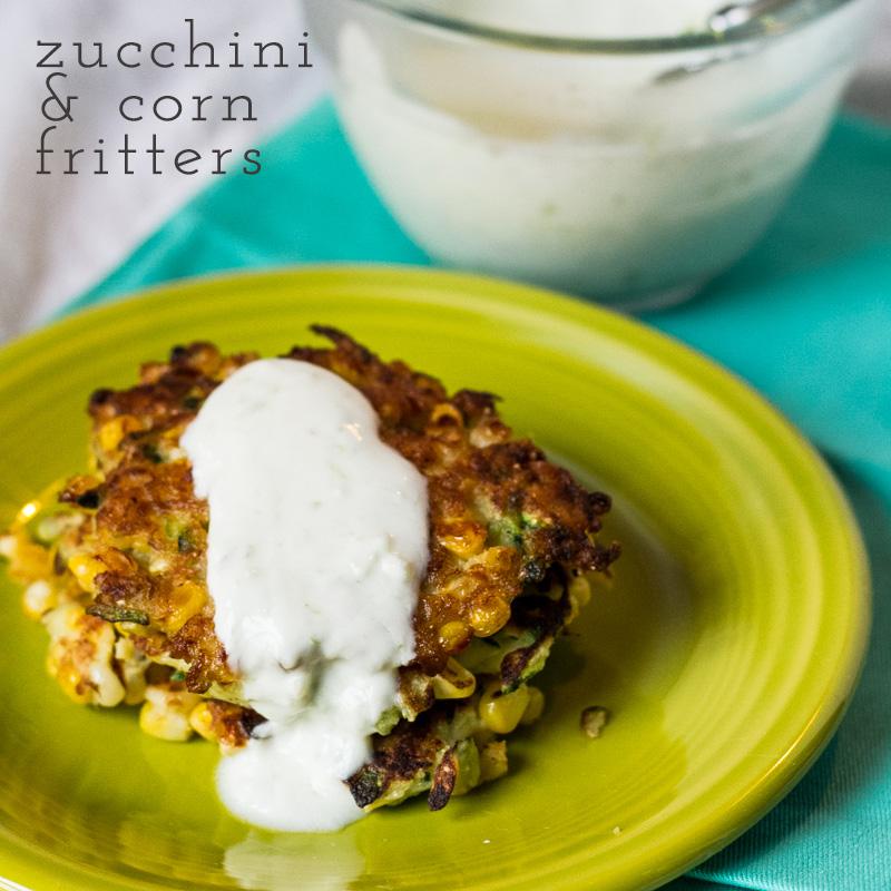 zucchini & corn fritters | chattavore