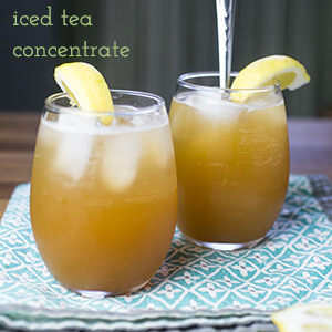This recipe for iced tea concentrate allows the drinker to be in full control of every aspect of their iced tea experience!   recipe from Chattavore.com