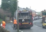 Bin men on Paxton Crescent, Armthorpe. Credit | Paul Ridsdale, local resident