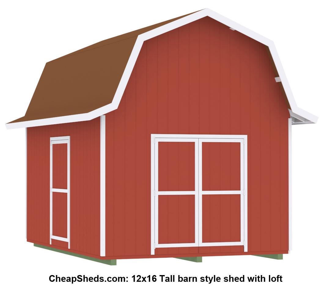Tall Barn Style on 24 X 30 Floor Plans