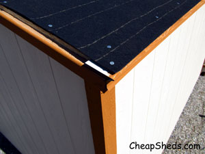 gable roof shed felt paper