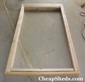bicycle shed plans inner door frame horizontal pieces