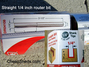straight cut router bit