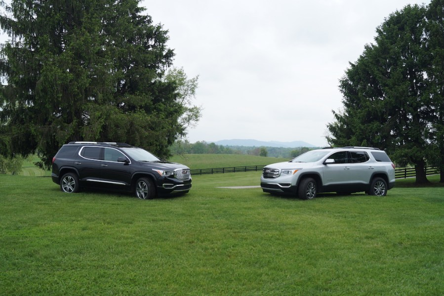 First Drive Review   Piloting GMC s Lighter  Smaller 2017 Acadia     GMC Acadia Denali and GMC Acadia SLT face off