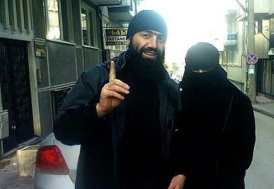 Sayfullakh with Chechen wife