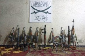 Weapons of Jamaat Ahadun Ahad|Photograph released by the group on August 8th.