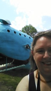 Grinnin' with the whale