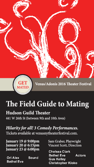 THE FIELD GUIDE TO MATING by Sam Graber at the Hudson Guild theater