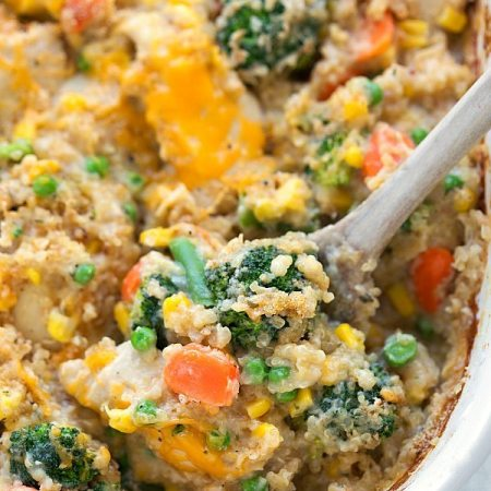 Cheddar Ranch Chicken Quinoa and Veggies! Everything gets cooked together!